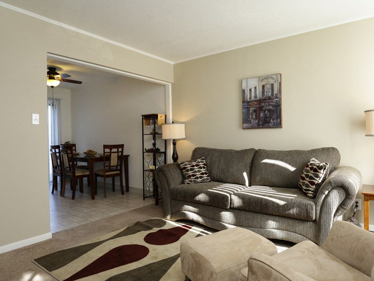 Large Living Rooms at Rolling Pines Apartments