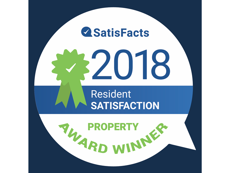 Brook View Satisfacts 2018 Resident Satisfaction Property Award Winner
