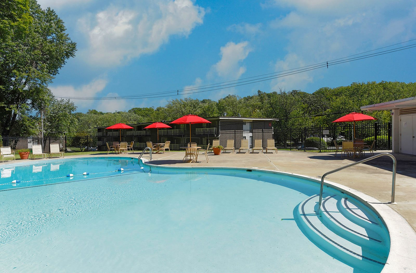 Sparkling Swimming pools, at Brook View Apartments, Baltimore, MD