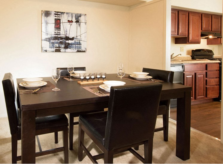 Separate Dining Area at Brook View Apartments Baltimore MD 21209