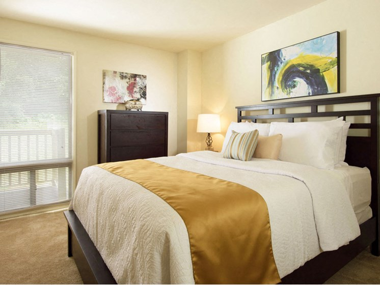 Spacious Bedrooms With Large Windows at Brook View Apartments Baltimore MD 21209
