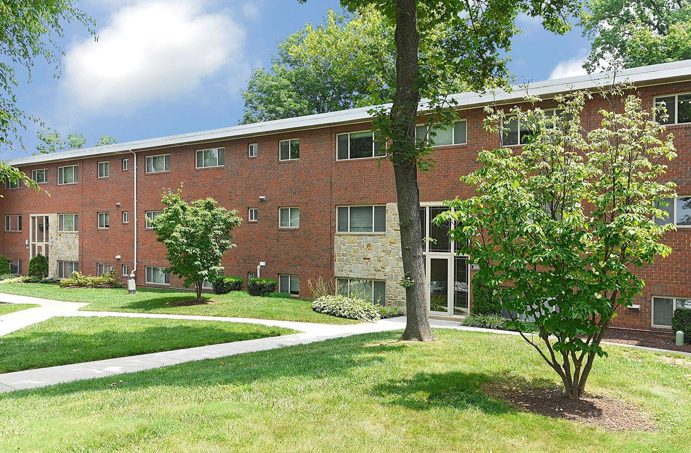 Beautifully-Landscaped Grounds at Cardiff Hall Apartments, Towson, MD, 21204