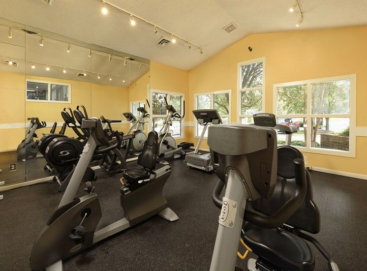 Fitness Center with updated equipment at Chase Heritage Apartments, Sterling, VA,20164