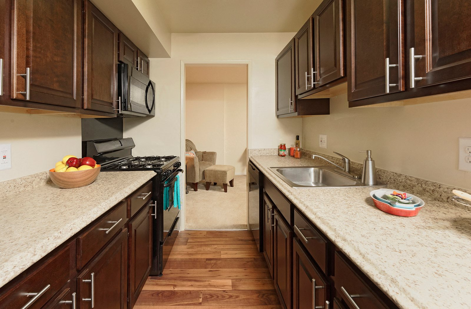 New Countertops and Cabinets at Courthouse Square Apartments, Towson, MD, 21286