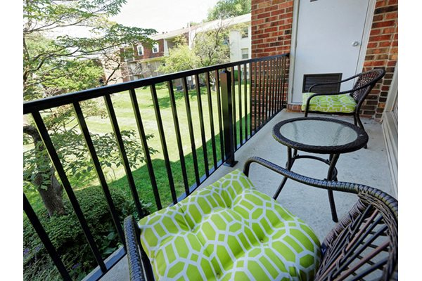 Private Balcony at Courthouse Square Apartments, Towson, MD,21286
