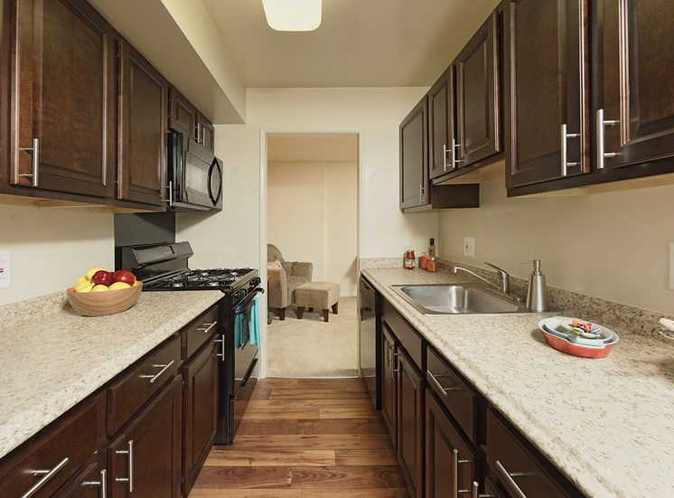 Compact Kitchens at Courthouse Square Apartments, Towson, MD,21286
