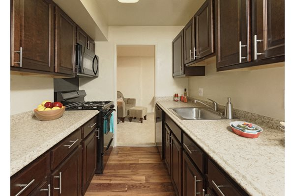 Rich Shaker Style Cabinetry at Courthouse Square Apartments, Towson, MD,21286