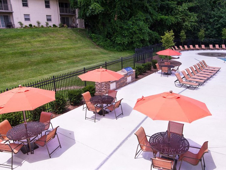 BBQ Grill & Picnic Area at Courthouse Square Apartments, 1112 Ivywood Lane, Towson