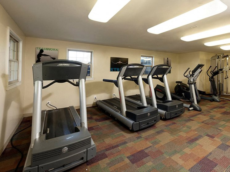 Fitness Center with updated equipment at Courthouse Square Apartments, Towson, MD,21286