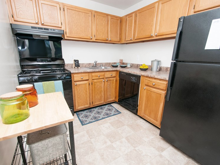 Doncaster Village Apartments Parkville MD Renovated Kitchen