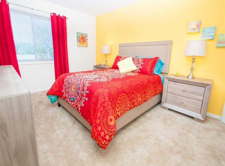 Live in cozy bedrooms at Doncaster Village Apartments, Parkville, MD,21234