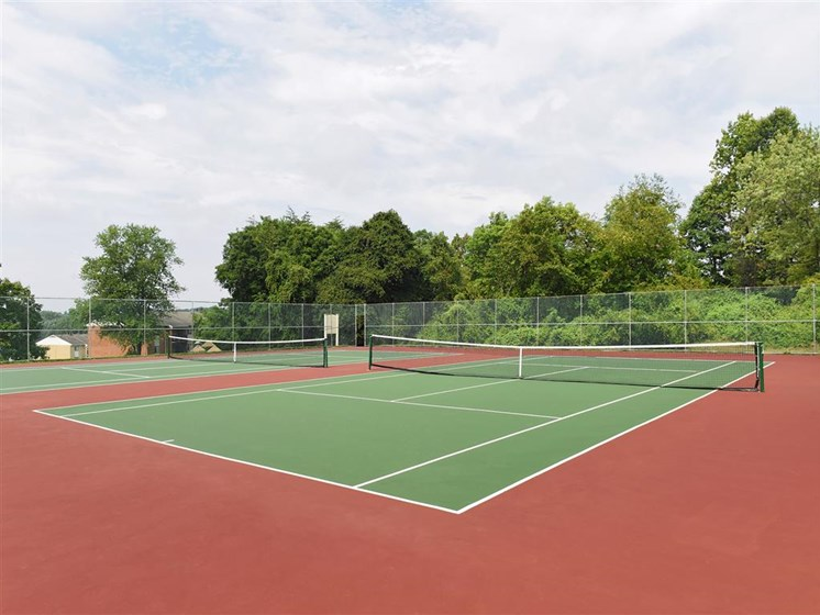 Synthetic Tennis Courts at Doncaster Village Apartments, Parkville, MD,21234