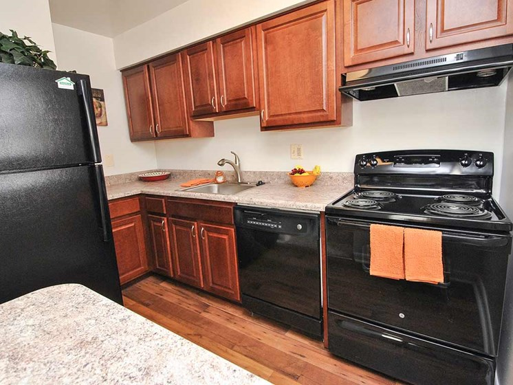 Spacious Kitchen with Pantry Cabinet at Donnybrook Apartments, Towson, MD,21286