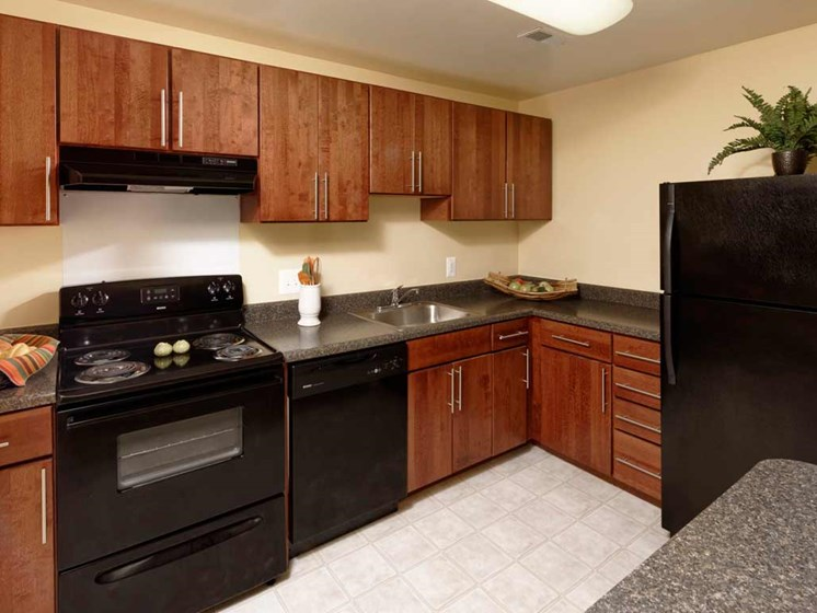 Spacious Kitchen with Pantry Cabinet at Kenilworth at Charles Apartments, Towson, MD,21204