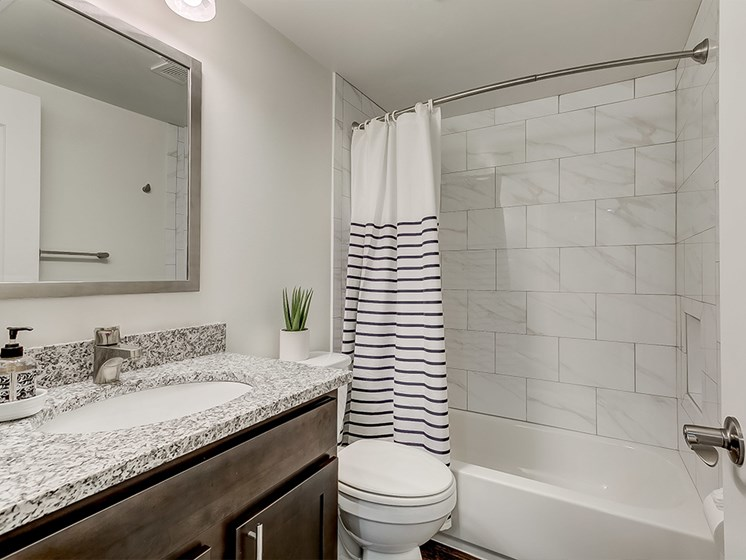 Updated bathroom, Kenilworth at Perring Park Apartments, Parkville, MD