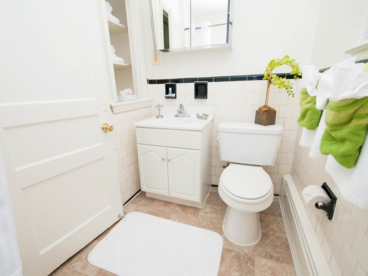 Spacious Bathrooms at Mount Ridge Apartments, Baltimore, MD,21228