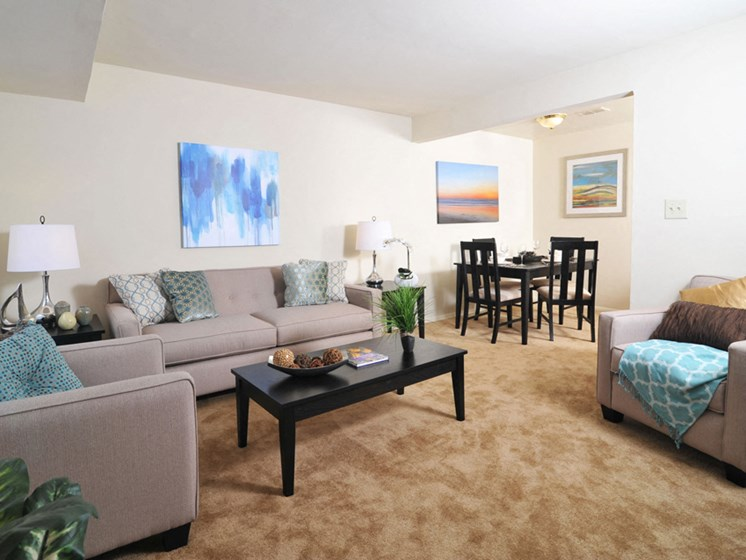 Living Room at Northwood Ridge Apartments and Townhomes, Baltimore, MD