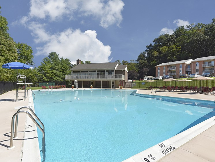 Olympic-size Swimming Pool  at Padonia Village Apartments, Timonium, MD,21093