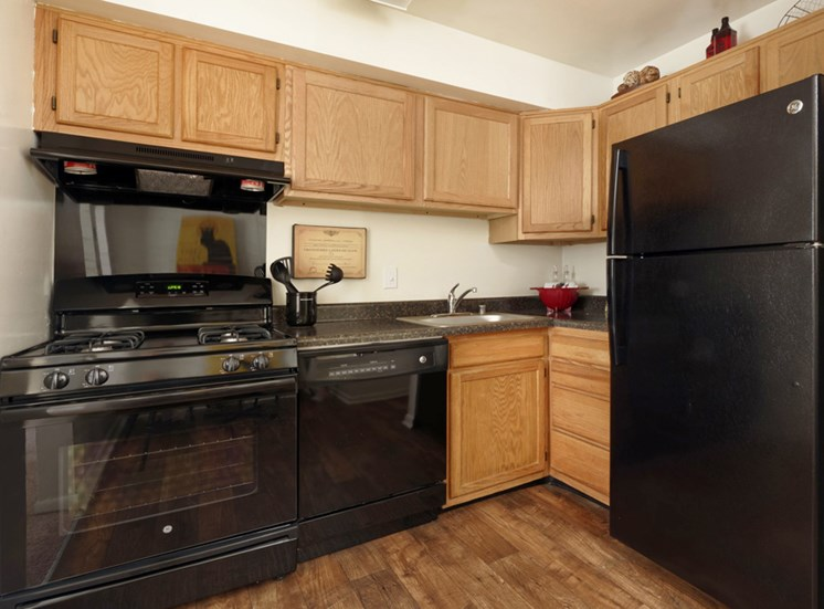 Fully equipped kitchen at Padonia Village Apartments, Timonium, MD,21093