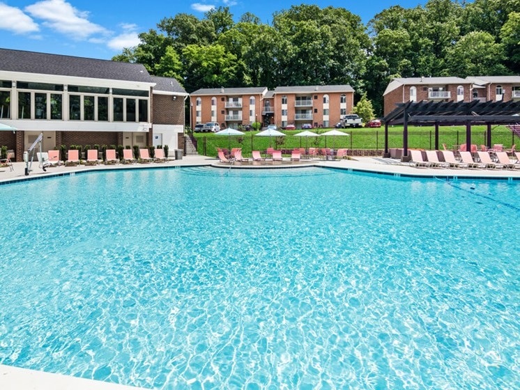 Resort-Style Swimming Pool at Padonia Village Apartments
