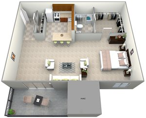 101 North Ripley Studio Floor Plan