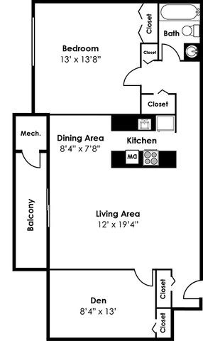 2 bedroom and den apartments in alexandria va. one bedroom bath den floorplan at 101 north ripley apartments, alexandria, va 2 and apartments in alexandria va