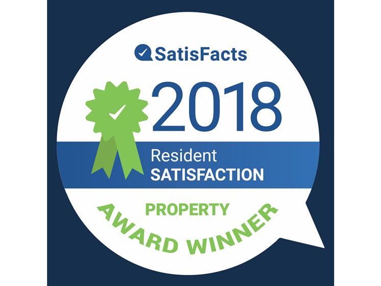 Resident Satisfaction Award winner