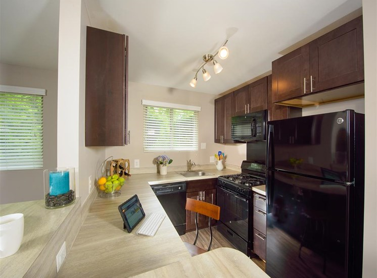 All Electric Kitchen at Stevenson Lane Apartments, Towson, MD,21204