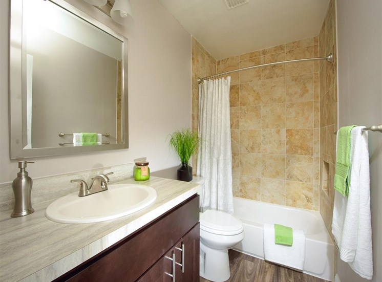 Designer Granite Countertops in all Bathrooms at Stevenson Lane Apartments, Towson, MD,21204