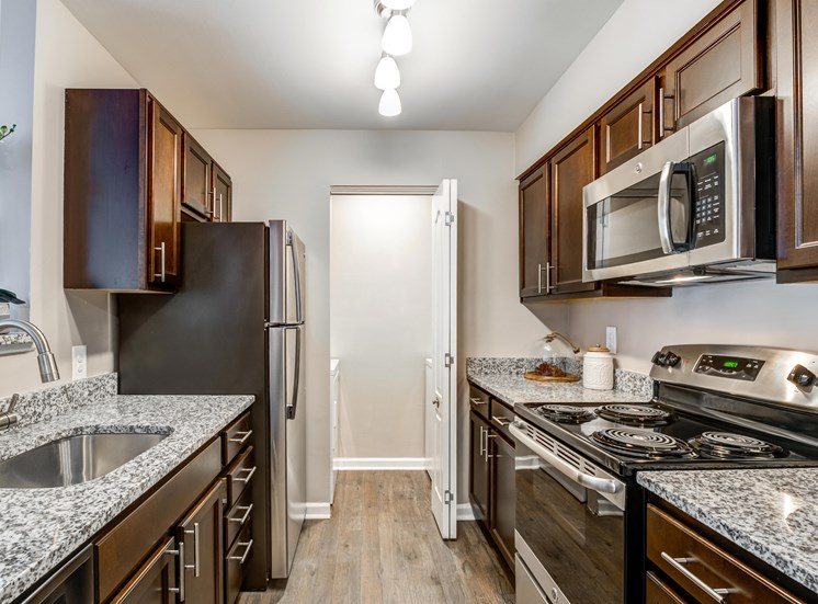 Renovated Kitchen, Crossings at White Marsh Apartments, White Marsh, MD