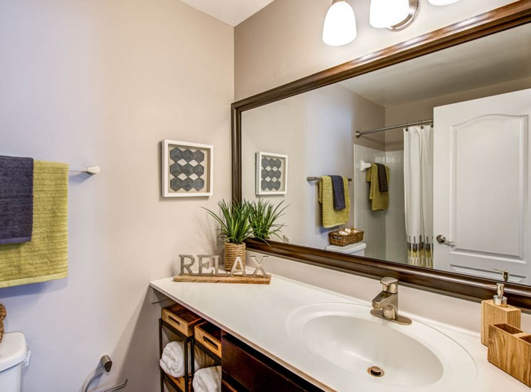 Renovated Bathroom, Crossings at White Marsh Apartments, White Marsh, MD