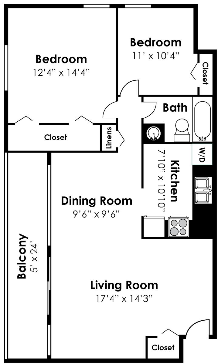 2 Bedroom 1 Bath Renovated