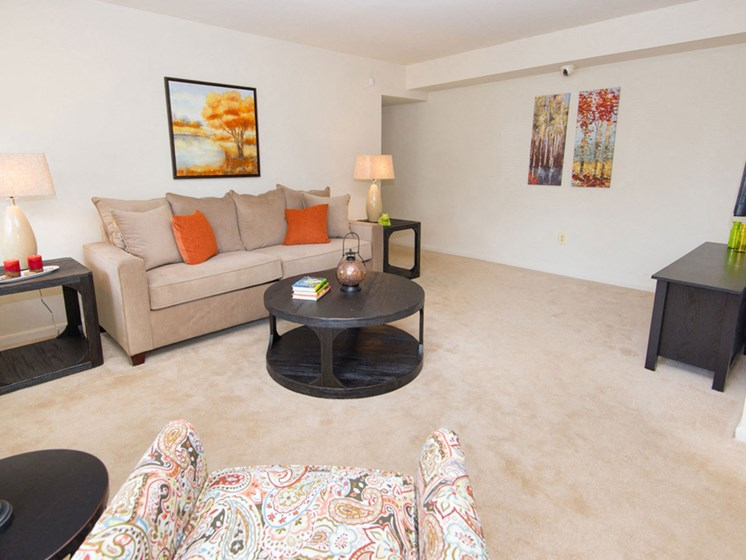 Wall-to-Wall Carpeting at Falls Village Apartments, 6222 Green Meadow Parkway