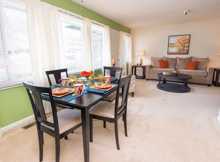 Separate Dining Area at Falls Village Apartments, 6222 Green Meadow Parkway, MD