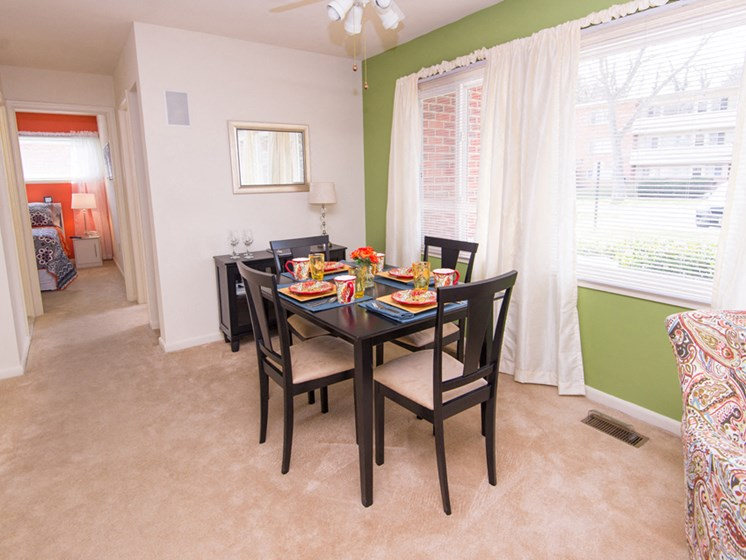 Separate Dining Area Falls Village Apartments Mount Washington