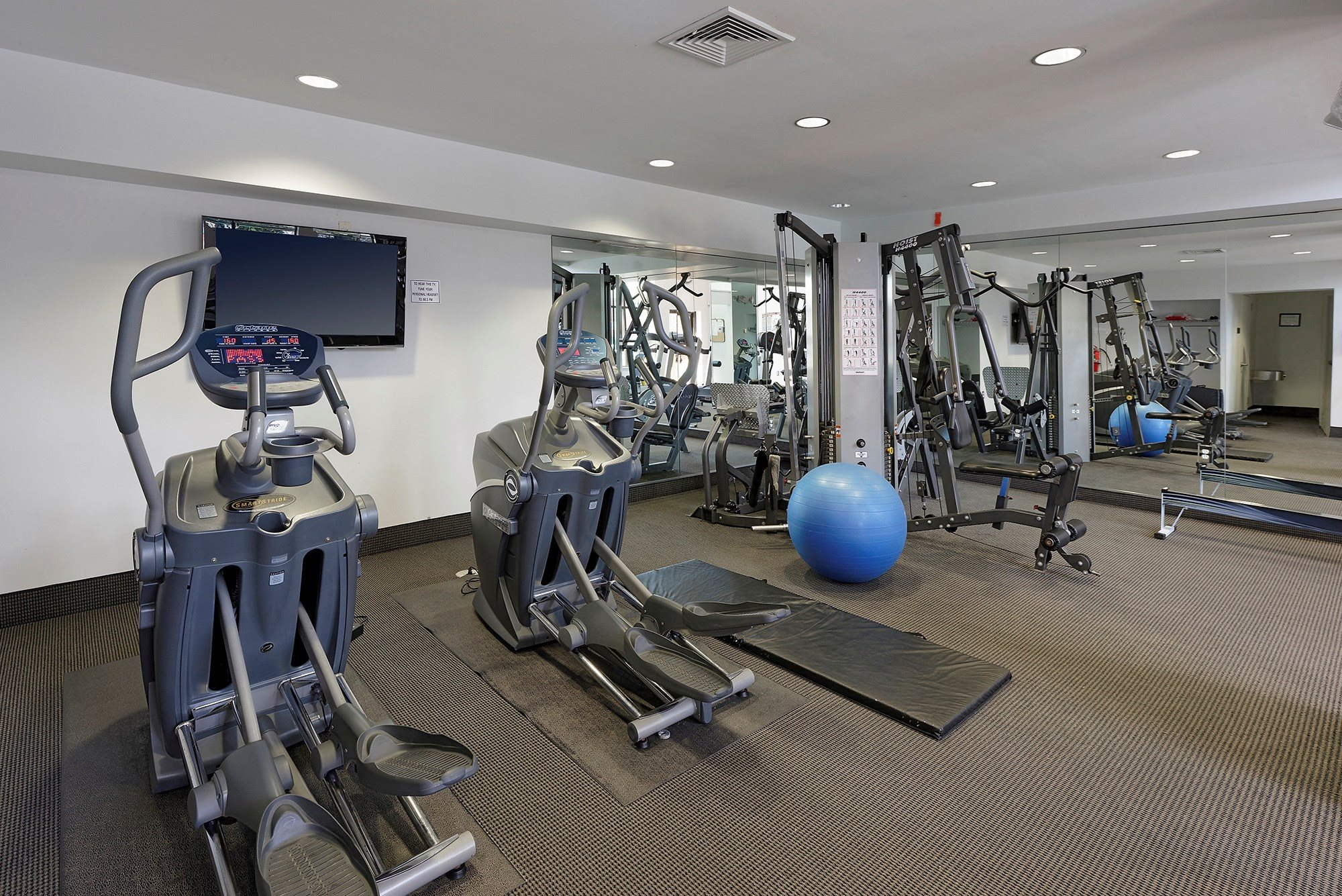 24-Hour Fitness Center at Ridge Gardens Apartments, Parkville, MD, 21234