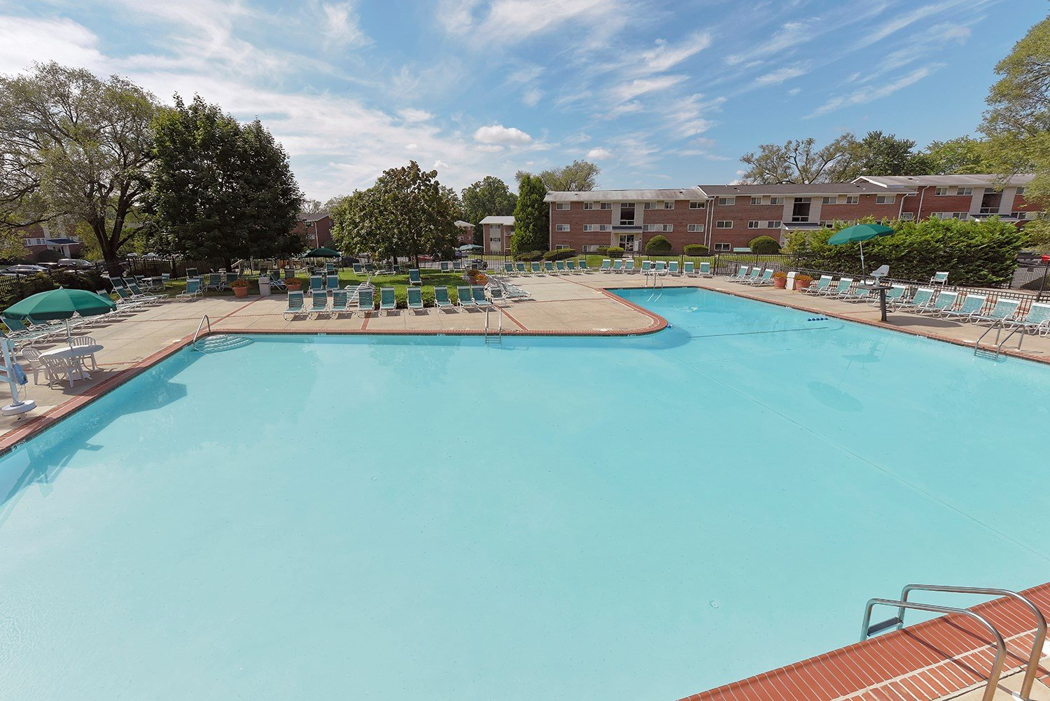 Pool Side Relaxing Area at Ridge Gardens Apartments, Parkville, MD, 21234