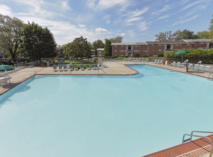 Swimming Pool with Wading Pool  at Ridge Gardens Apartments, Parkville, MD, 21234