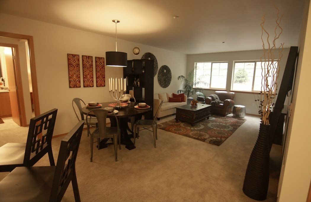 2 Bedroom Living Room at Renwood Apartments, Bonney Lake, WA