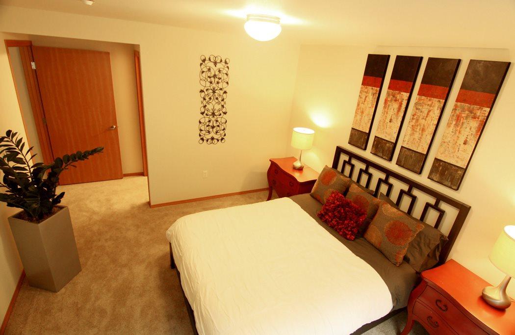 Master Bedroom at Renwood Apartments, Bonney Lake, WA