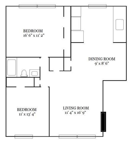 2 Bedroom B Floor Plan 2