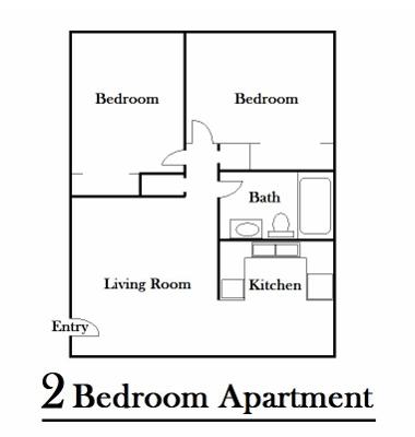2 Bedroom Garden