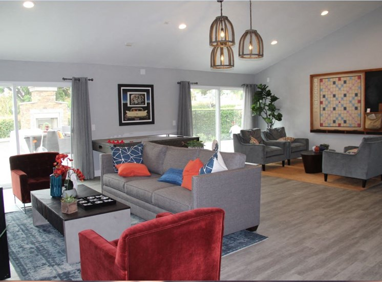 Newly Remodeled Clubhouse at Park West Apartments, Chino