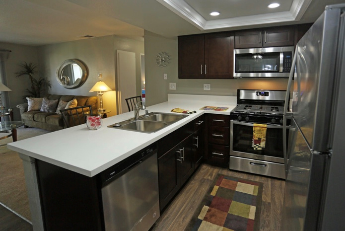Fully Organised Kitchen at Park West Apartments, Chino, CA, 91710