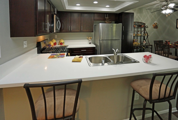 Gourmet Kitchens with Islands at Park West Apartments, Chino, CA, 91710