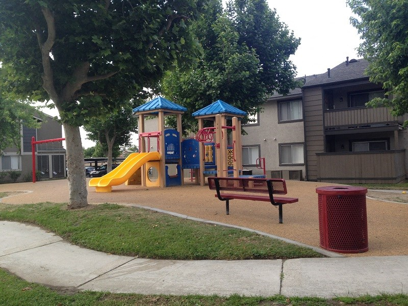 On-site Tot Lot at Park West Apartments, Chino, CA
