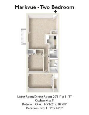 2 Bedroom/ 1 Bath
