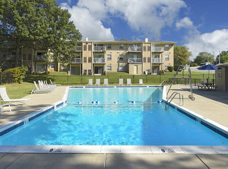 Olympic-size Swimming Pool at Kenilworth at Hazelwood & Windridge Apartments, Baltimore, MD,21206