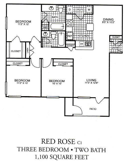 Red Rose Floor Plan 3
