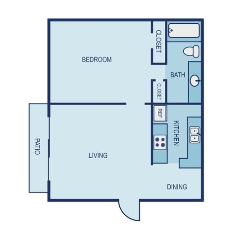 *Income Restricted- Efficiency Floor Plan 11